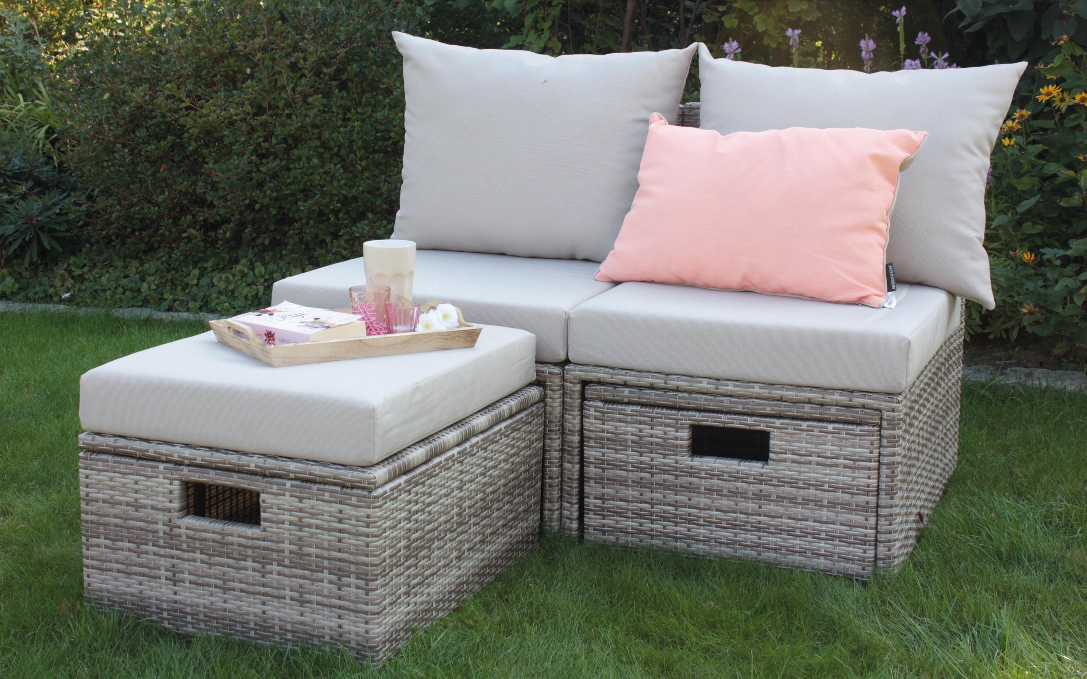 geflecht loungem bel loungem bel f r garten und terrasse. Black Bedroom Furniture Sets. Home Design Ideas