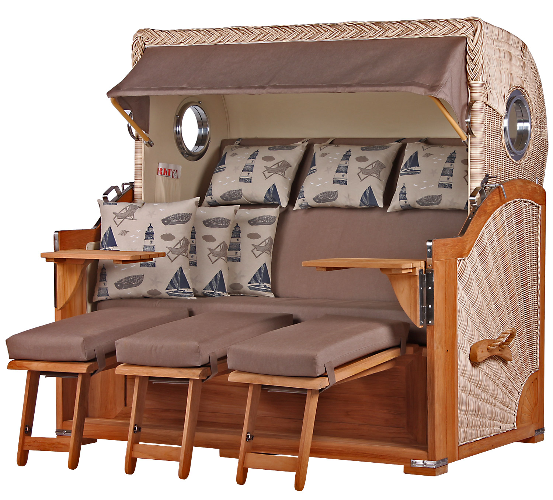3 sitzer strandk rbe kampen xxl. Black Bedroom Furniture Sets. Home Design Ideas