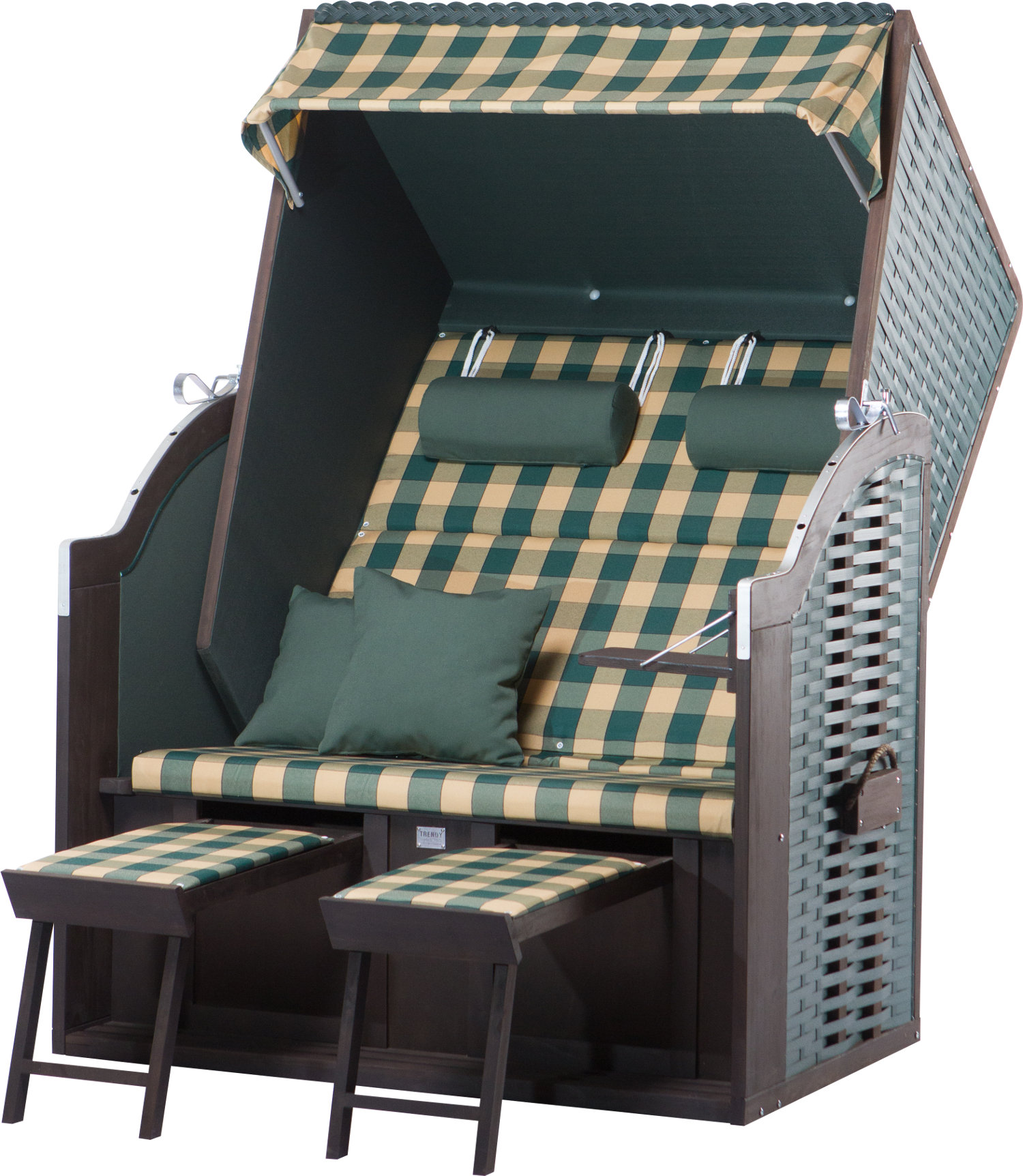 strandkorb twin compact pe green dessin 353. Black Bedroom Furniture Sets. Home Design Ideas