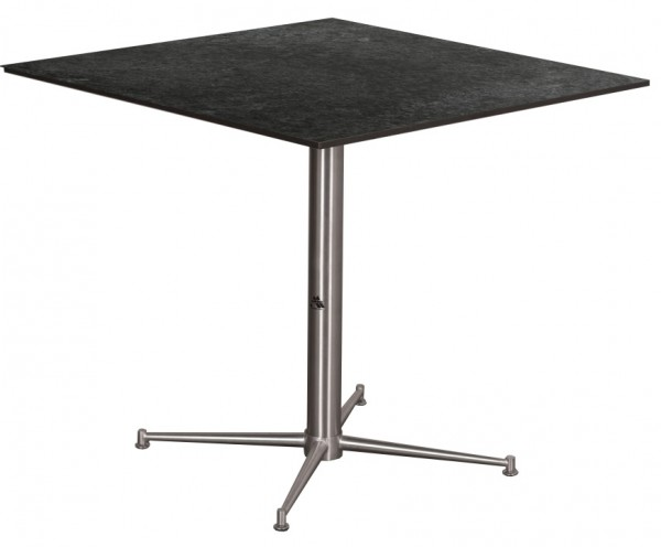 Tisch Willington Edelstahl HPL 80cm x 80cm deVries