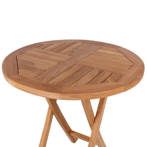 Gartensessel Belford und Tisch Sutton Teak-KOMPLETTSET