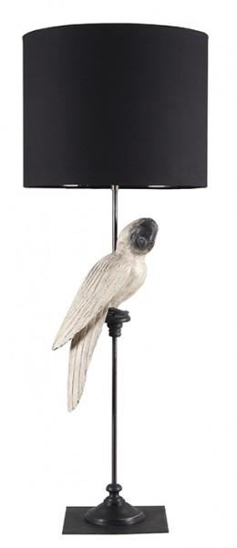 Stehleuchte Papagei white- black