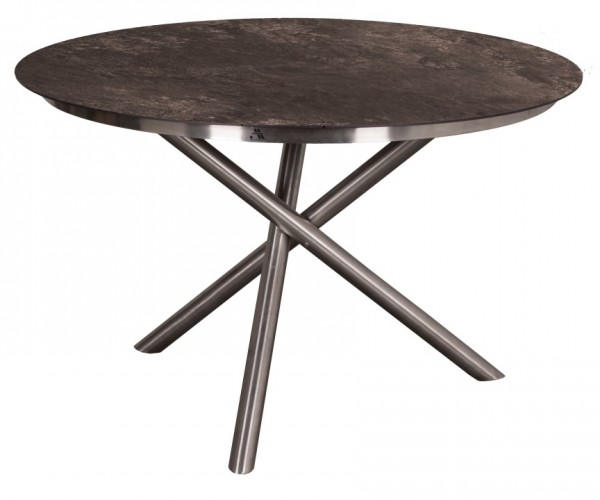 Tisch Willington Edelstahl HPL ø 120cm deVries