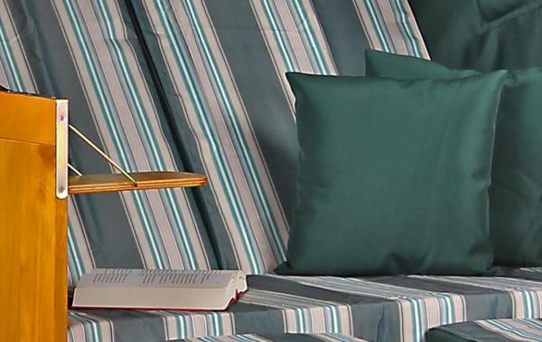 Strandkorb Baltic PE weiß Dessin Beige Grün
