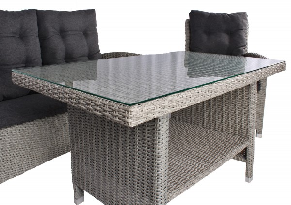 Tischgruppe Prato PE grey-KOMPLETTSET