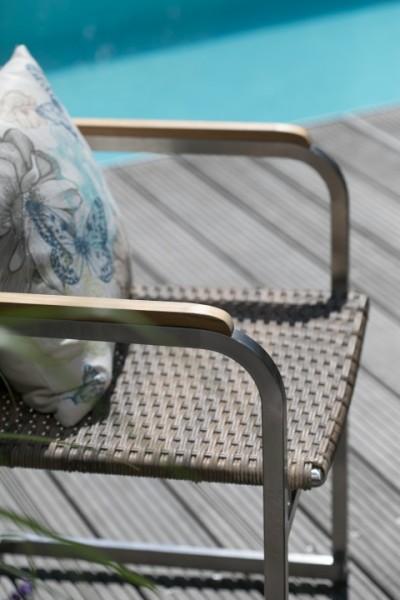 Gartensessel Lute Edelstahl PE-Rattan deVries