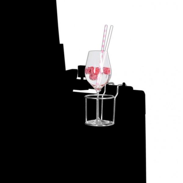 Glas-/ Flaschenhalter für Strandkörbe