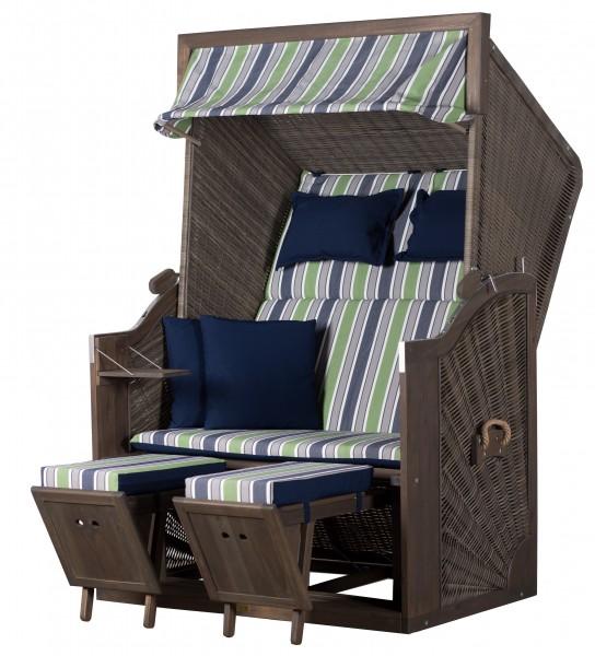 strandkorb trendy pure greenline 120 pe grey dessin 713. Black Bedroom Furniture Sets. Home Design Ideas