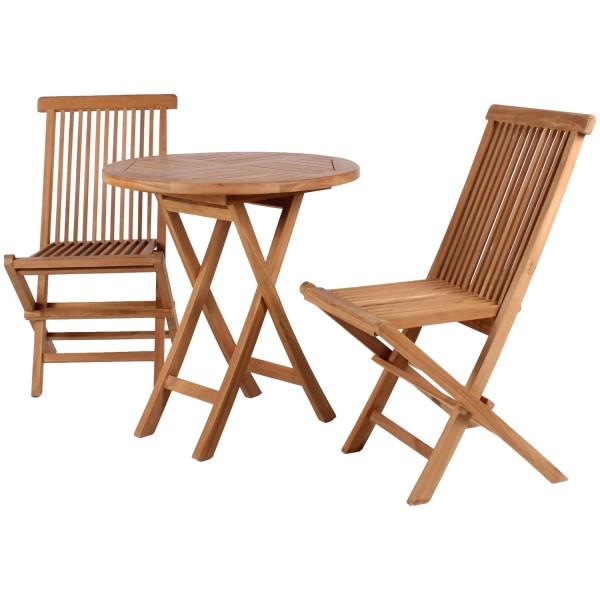 Gartensessel Langton und Tisch Sutton Teak-KOMPLETTSET