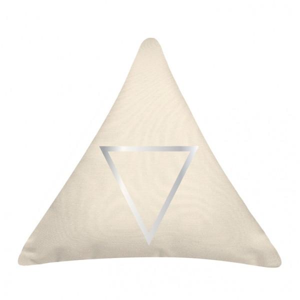 Knuffelkissen Dreieck silver