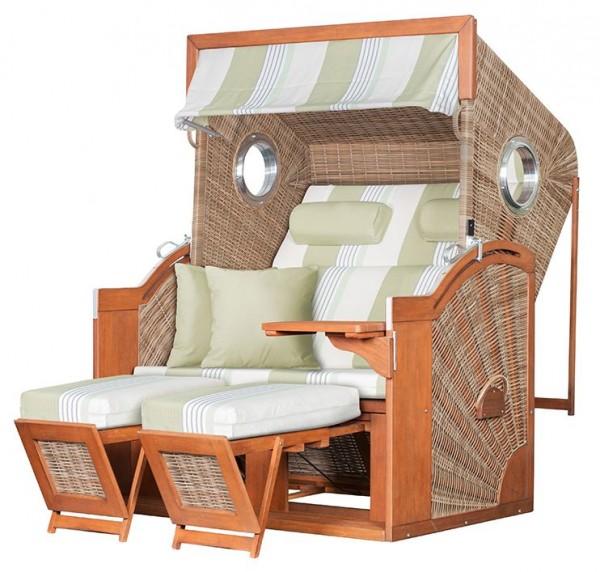 Strandkorb deVries PURE® Seaside XL PE griseum Dessin 432