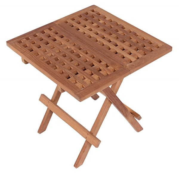 Deckchair ZickZack Teak und Tisch Devon Teak-KOMPLETTSET