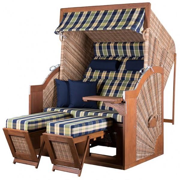Strandkorb TRENDY PURE Comfort XL PE griseum Dessin 431