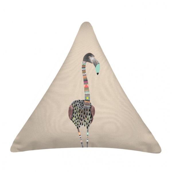 Knuffelkissen Dreieck Flamingo