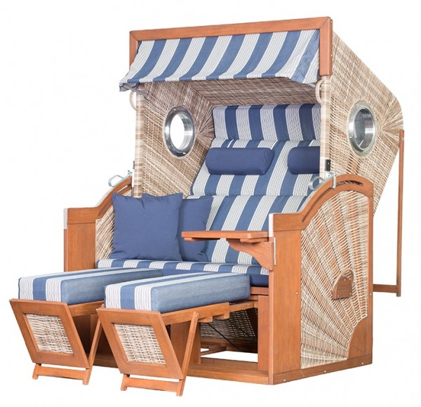 Strandkorb TRENDY PURE Seaside XL PE seashell Dessin 434