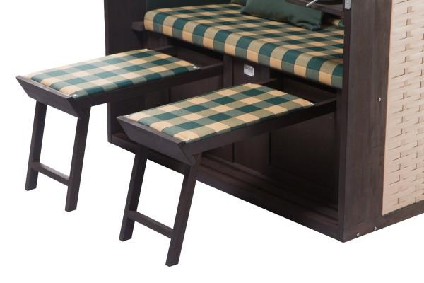 strandkorb twin compact pe nature dessin 353. Black Bedroom Furniture Sets. Home Design Ideas