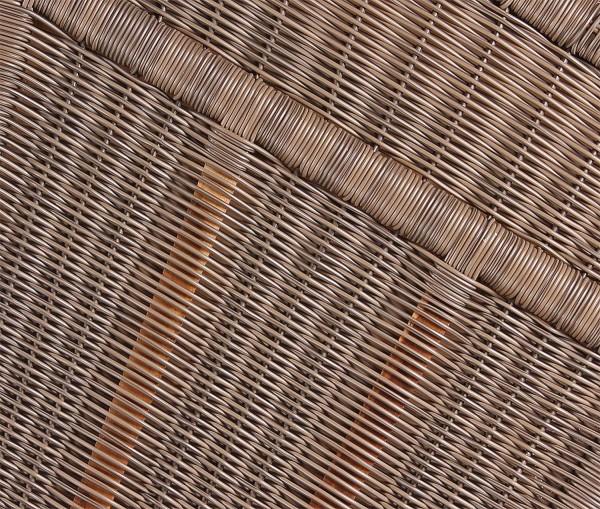 Strandkorb Nordstrand Mahagoni PE grey Dessin 530