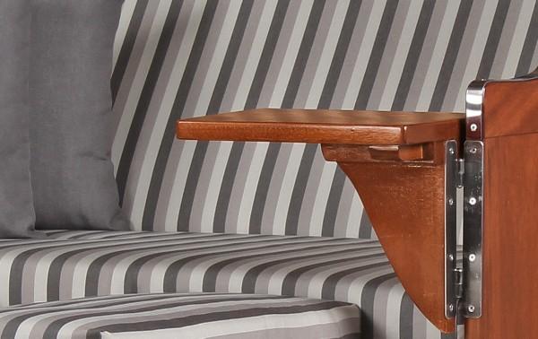 Strandkorb Rantum Mahagoni PE grey Dessin 545
