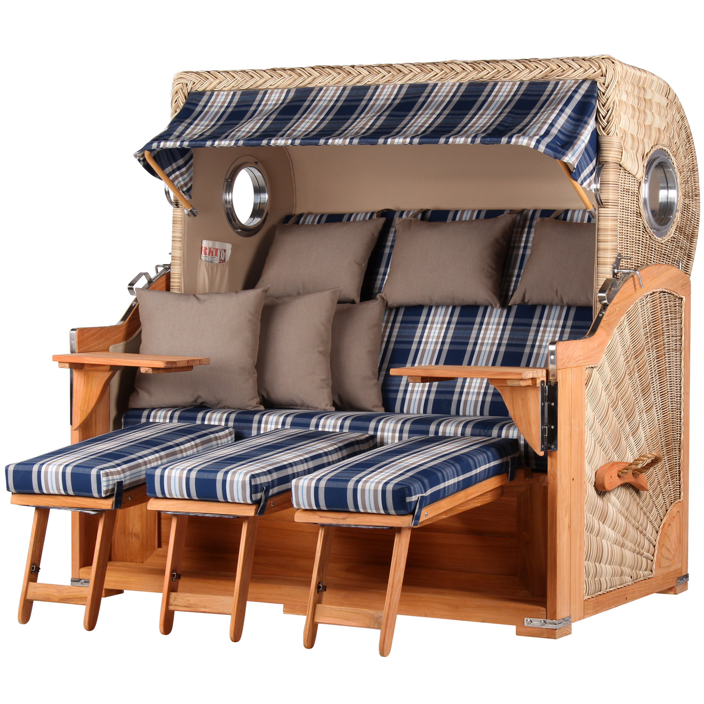 3 sitzer strandk rbe kampen xxl strandkorb vom strandkorbprofi. Black Bedroom Furniture Sets. Home Design Ideas