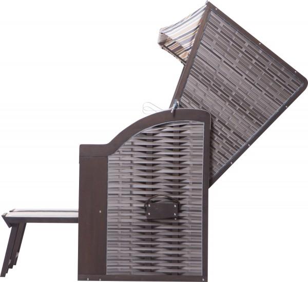 Strandkorb Twin Compact PE onyx Dessin 351-KOMPLETTSET