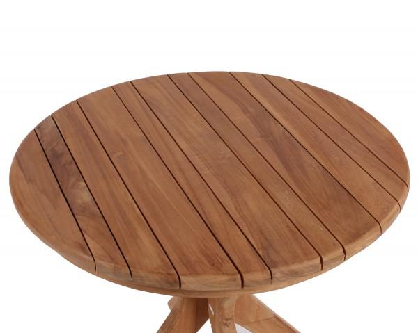 Relaxsessel Preston und Tisch Burton Teak-KOMPLETTSET