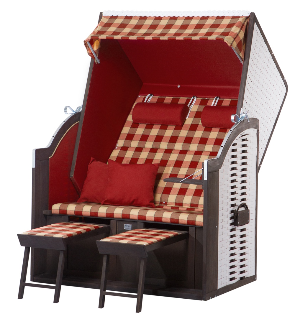 strandkorb twin compact pe white dessin 354 ebay. Black Bedroom Furniture Sets. Home Design Ideas