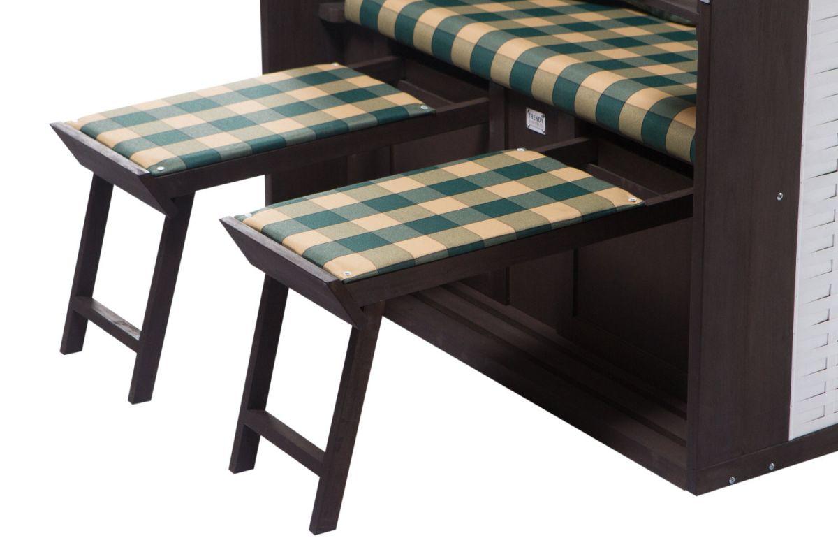 strandkorb twin compact pe white dessin 353 ebay. Black Bedroom Furniture Sets. Home Design Ideas